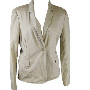 Liz Claiborne Tan Blazer Size XL